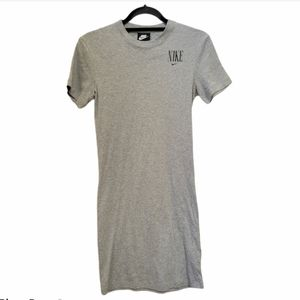 Nike tee shirt dress gray women's size small